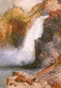 Moran, Thomas Upper Falls, Yellowstone oil painting artist
